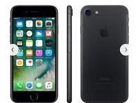 UNLOCKED IPhone 7 matte black 32gb