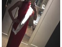 Red formal dress wore once