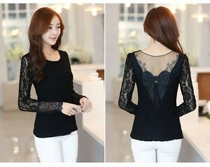 BRAND NEW Black Lace Long Sleeve Top with Embroidered Back Kitchener / Waterloo Kitchener Area image 2