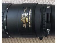 Sigma 300-800mm f5.6 EX DG HSM (EXC++) + MC-11 SA-Sony E adapter (A9/A7iii)