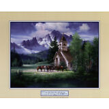 Western Church Art Poster Print by Jack Sorenson, 20x16