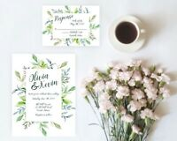 Springtime Foliage Wedding Invitation Set