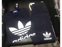 Navy Adidas t-shirt& shorts