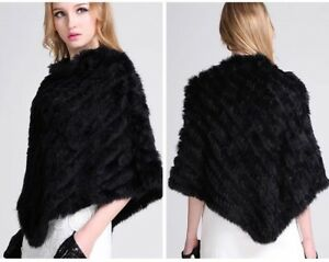 FUR SHAWL PONCHO ( imitation fur ) THIS ITEM IS IN STOCK NOW