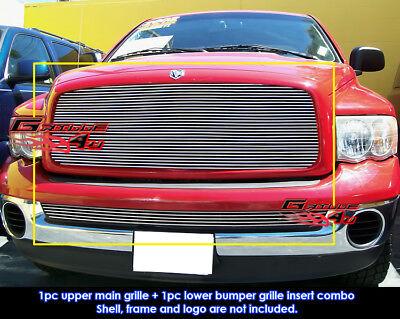 Fits Dodge Ram (Regular Model Tow Hook Must Remove) Billet Grill 2002-2005