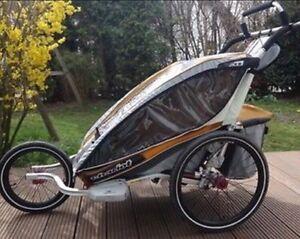 Charriot de bicyclette pour enfant 2 places.