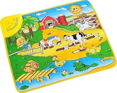Farm Play Carpet - Kids Baby Child Farm Animal Musical Music Touch Play Singing Gym Carpet Mat Toy