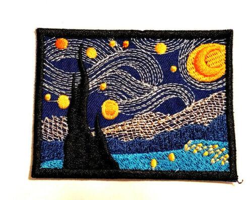 Van Gogh Patch Iron On Starry Night Art Gothic Whimsical Asylum Moon Celestial
