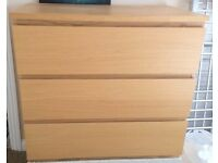 IKEA Malm Three-drawer Chest Of Drawers - LOCAL FREE DELIVERY