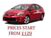 PCO CAR HIRE £129PW TOYOTA PRIUS AUTO UBER READY PRIUS RENT £129