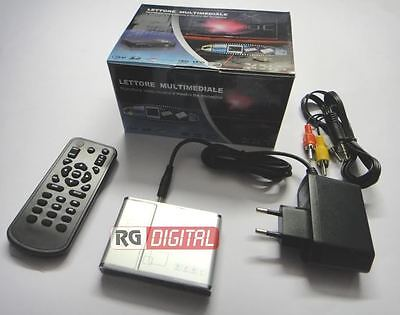 MINI LETTORE MULTIMEDIALE MULTIMEDIA PLAYER USB HDMI 1080P YPBPR SD DVD DVIX 311