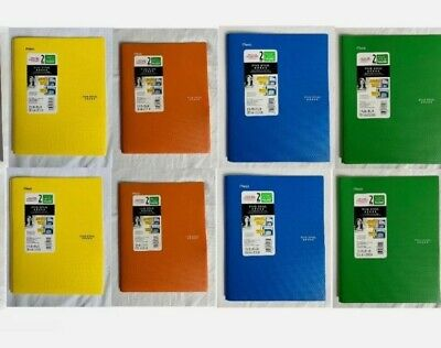 Mead FIVE STAR Plastic Folders 2-Pocket 3-Prong ASSORTED COLORS 8-Pack NEW