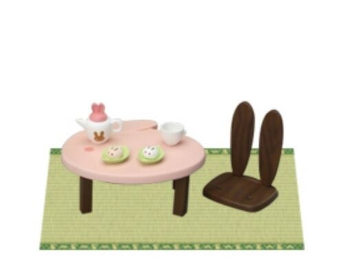 Megahouse Rabbit Furniture, Traditional Japanese Table, dollhouse furniture mini