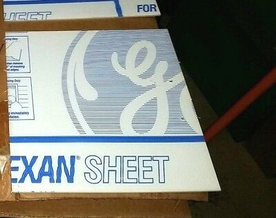 Ge Lexan Sheet Polycarbonate 18 Thick Clear 12.75 X 12 With Holes