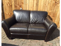 Barker & Stonehouse brown leather 2 seater sofa