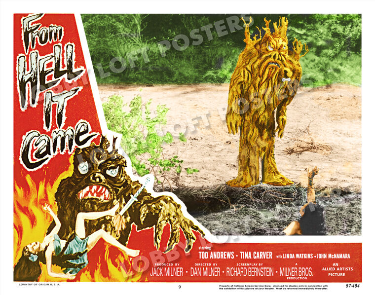 FROM HELL IT CAME LOBBY SCENE CARD # 9 POSTER 1957 TABANGA TINA CARVER