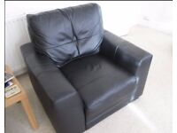 Single Black Faux Leather Armchair - free Delivery, VGC