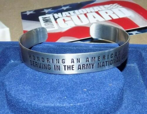 Army National Guard Silver Bracelet - Honoring an American Hero - NEW in Box