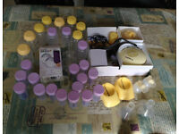Medela swing pump with extra accessories