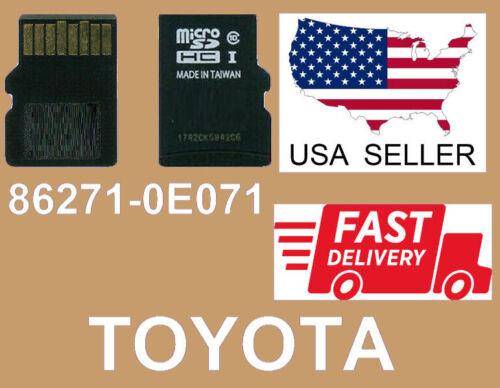 2019-2020 TOYOTA Navigation Micro SD Card Map Data LATEST UPDATE OEM 86271-0E071