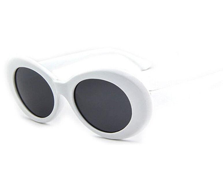 Bianco Ovali Occhiali KURT COBAIN STILE Occhiali da sole NIRVANA Costume GRUNGE