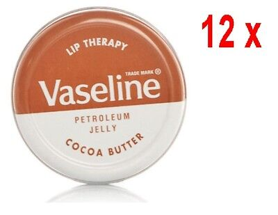 12% Kakaobutter (Vaseline Lip Therapy Kakaobutter - 12er Pack (12 x 20 g))
