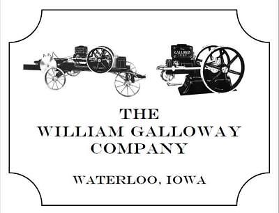 5984 The William Galloway Company Waterloo Gasoline Engines Manual 1909 D44