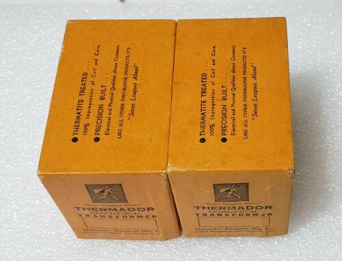 NIB Pair of Ultra Rare Thermador HS-1 MC Phono MM Stepup Input Audio Transformer