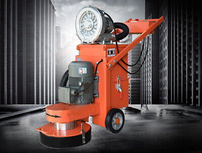 4000w Concrete Floor Grinder 220v With Blower Triangular Plate And Sticky Plate