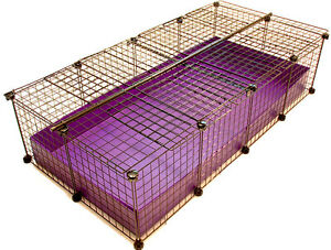 New 2x4 grid covered c c cube coroplast guinea pig cage large for Coroplast guinea pig cage for sale