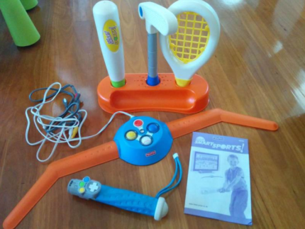 Fisher Price Smart Sports 3in1 Golf Tennis Baseball Game RRP$100