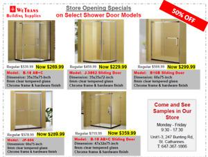 Shower Doors - 50% OFF - Best Deals in Niagara!