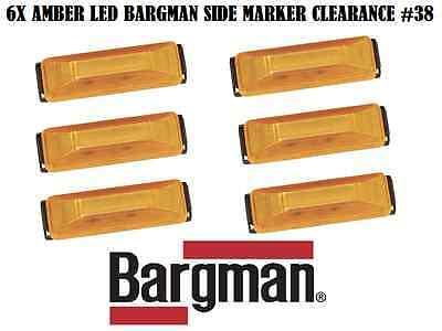 6X BARGMAN LED CLEARANCE SIDE MARKER LIGHT #38 SERIES AMBER TRUCK TRAILER
