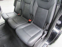 Leather fully removable car seats with integral child seats, booster seats and shoulder buffers