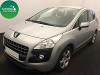 £127.56 PER MONTH SILVER 2011 PEUGEOT 3008 CROSSOVER 1.6 SPORT DIESEL MANUAL