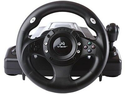 Volante de carreras PC/PS2/PS3/USB Con pedales Racing Wheel Windows Feedback