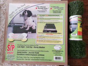 Portable dog potty with extra turf