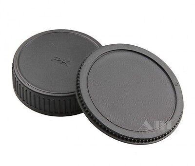 Body And Rear Lens Caps For Pentax K-Mount K-X K-7 K-5 K-5 II K-R UK Seller