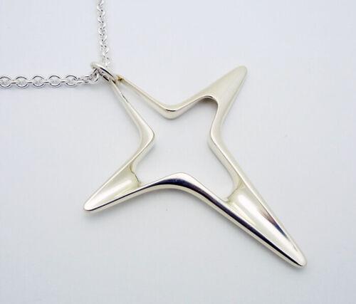 "Georg Jensen Denmark Large Cross Pendant 31"" Necklace in Sterling Silver #151"