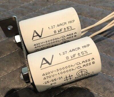 Av Arcotronics 8uf 1.27.4acr Mkp Capacitor G2321 Xh Yh