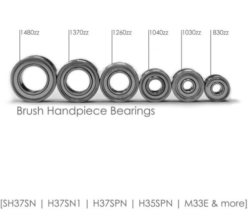Dental Brush Handpiece Parts - BEARINGS - 6 Different Sizes