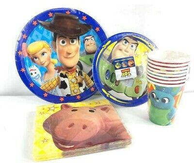 Toy Story 4 Party Supplies Express Pack für 8 Gäste (Becher Servietten Teller) ()