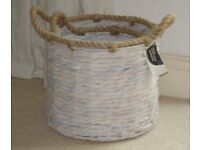 "2 ""As New"" Small Artisan Storage Baskets"