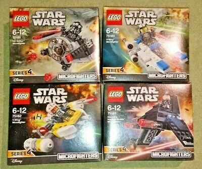 JOB LOT LEGO STAR WARS SERIES 4 MICROFIGHTERS 75160 75161 75162 75163 NEW SEALED