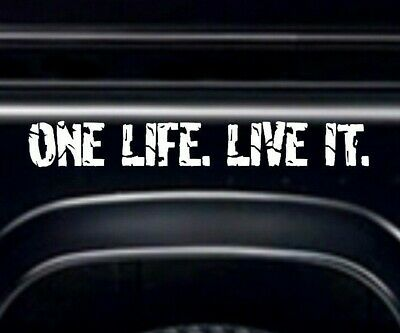 ONE LIFE LIVE IT, STICKERS Decal Camel Trophy 4x4 Off Road Fits - Land Rover
