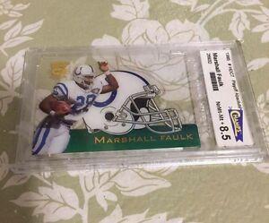 1995 Rare Marshall Faulk Graded Die Cut Football Card #HDC7