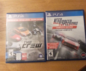 PS4 Games  The Crew , Need for Speed Rivals
