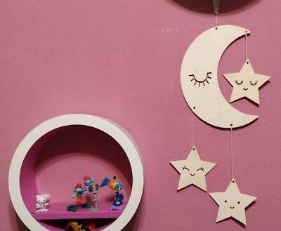 nderzimmer Dekoration aus Holz Schlafzimmer gute Nacht Baby (Sterne Und Mond Dekoration)