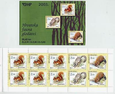 CROATIA 2003 Forest Mammals booklet  MNH / **.  Michel  MH 9