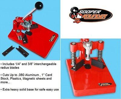Sooper Corner Rounder Radius Blades Cut Plastic Cardboard Aluminum Business Card